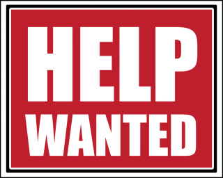 Sign with Help Wanted text