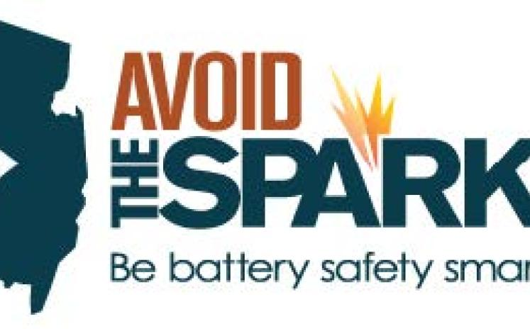 """Image of New Jersey & the Words """"Avoid the Spark"""""""